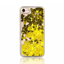 2017 New Transparent Liquid Glitter Quicksand Mobile Phone Cover Case for iphone X/8