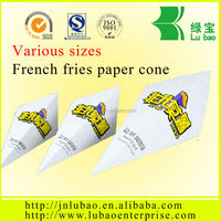 2016 New Style Food grade paper cone for crisps