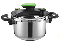 Electric 0.5L And Gas 9L Aluminium Polished Pressure Cooker With Glass Lid & Steamer