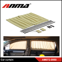 Retractable roll up car sunshade curtain