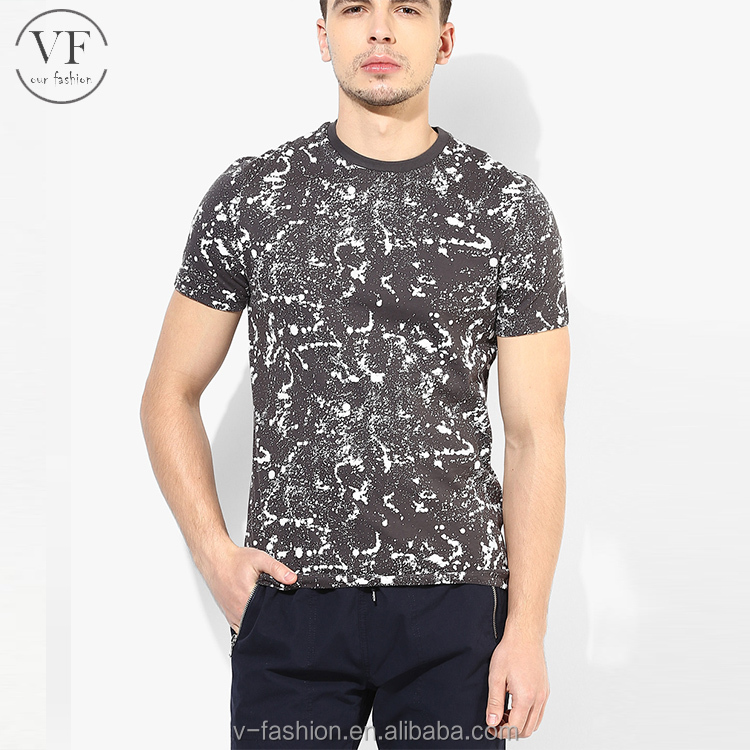 OEM custom coffee coloured muscle fit printed fashion 100% cotton man tshirts