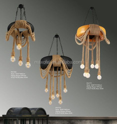 Nordic modern fashion simple tire hemp rope industrial pendant lamp