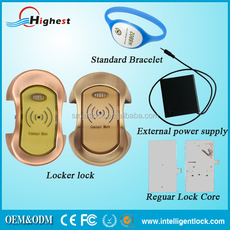 Smart Safe Rfid card Electronic Digital Cylinder locks for lockers for Large shopping market