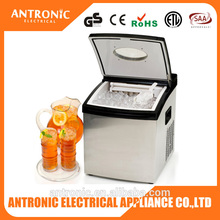 Antronic CE/GS/ETL/ROHS/LFGB/DGCCRF 1.5L water tank 10-15kgs/24h household ice cube maker ice cube machine ice making machine