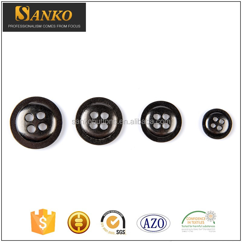Wholesale 10-25 mm different types of resin horn buttons