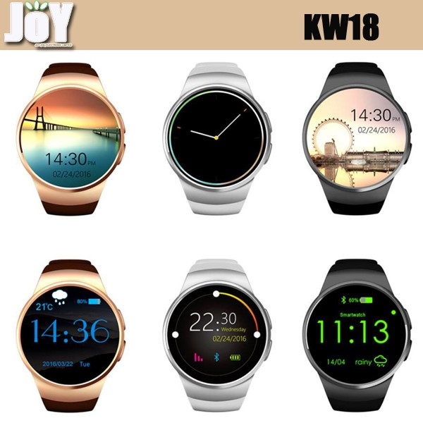 HOT SALE KW18 smart watch MTK2502C IPS screen support IOS Android bluetooth wifi GSM 3G