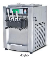 Table soft serve ice cream display freezer with pre-cooling system