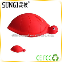 lastest 2014 kids christmas gifts wired optical turtle shaped mouse