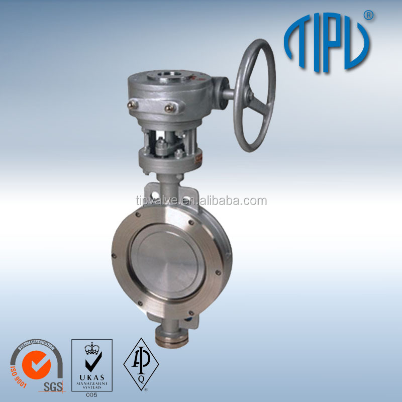 Lever Operation Center Line Flange Stainless Steel Butterfly Valve