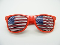 cheap pinhole sticker promotion sunglasses USA flag sticker party sunglasses DLC9010
