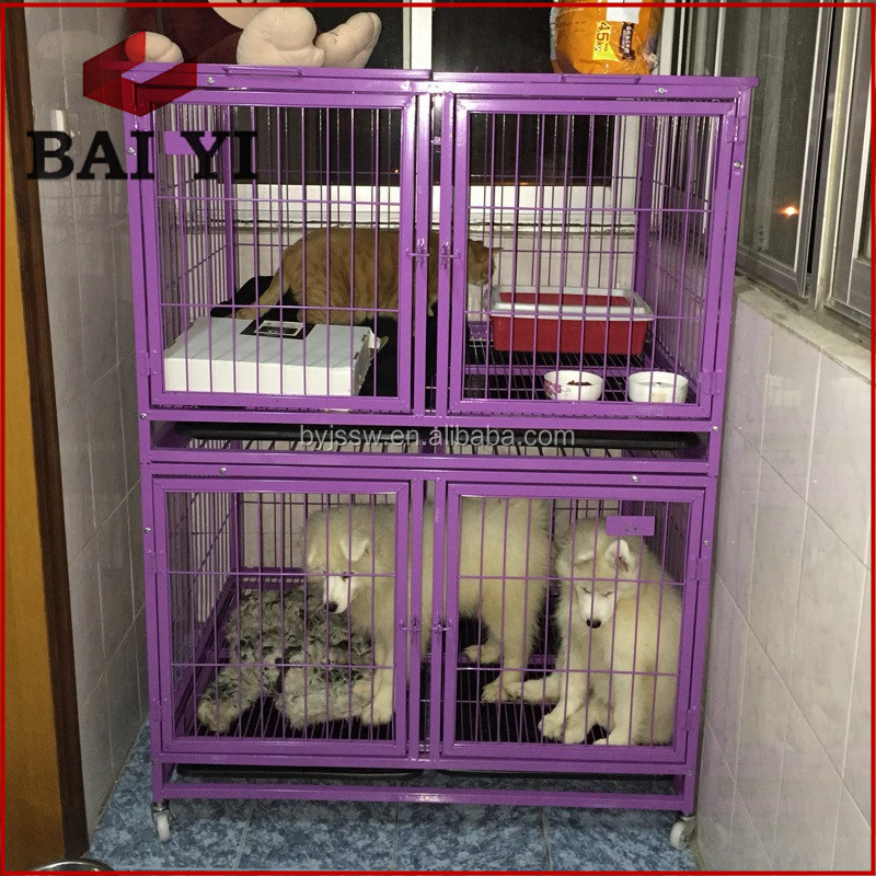 Stackable Square Tube Dog Cage