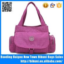 Wholesale hot sale Korea fashion nylon high quality tote hand shoulder bag for women