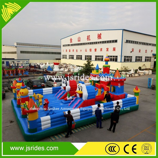 Outdoor playground Kids inflatable fun city