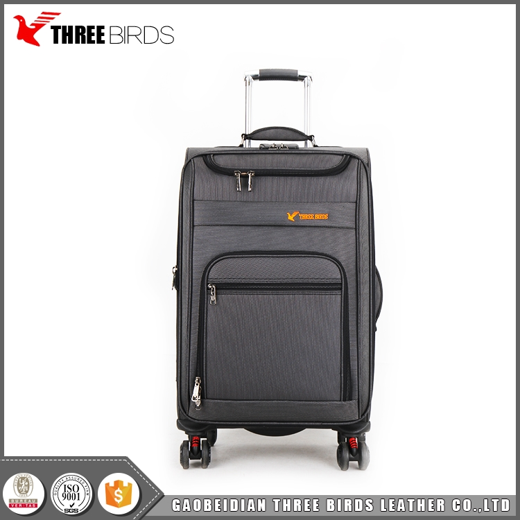 China suppliers three birds flylite luggage 3 pcs expandable upright trolley case set
