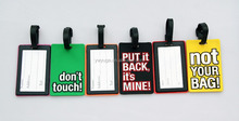 Wholesale silicon blank luggage tag