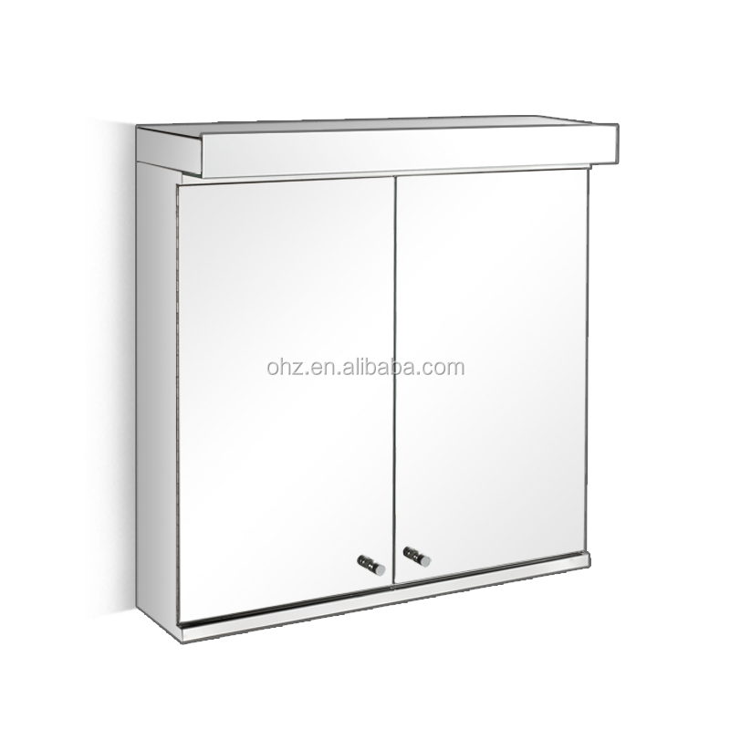 7060 Bathroom makeup mirror and mirror jewelry cabinet