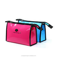 Attractive and durable hotsell button pvc cosmetic bags