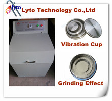 Micronizing ore and rock stone sample preparation vibration pulverizer, lab ring type bowl mill