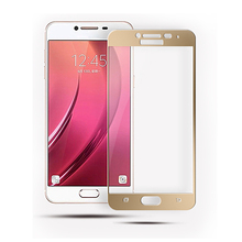 2.5D full-screen coverage of tempered glass film for Samsung C500 screen protection film 9H explosion-proof membrane