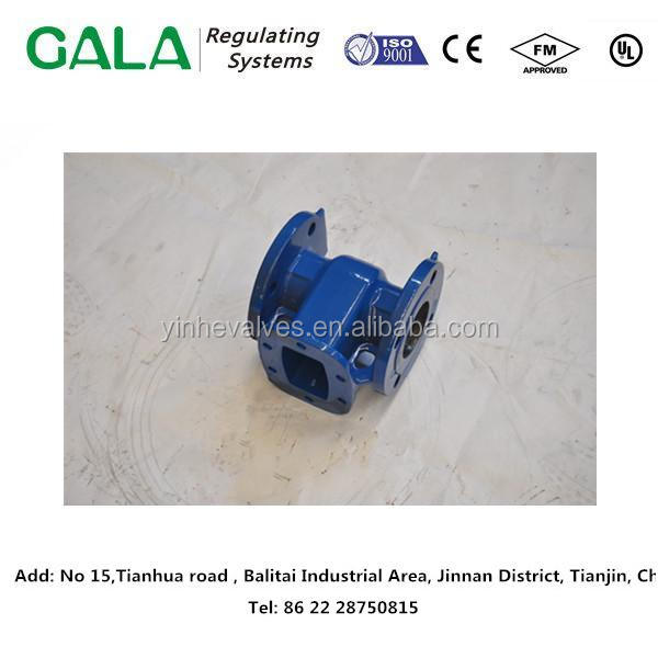 Top level quality foundary casting iron gate valve body, valve part for gas