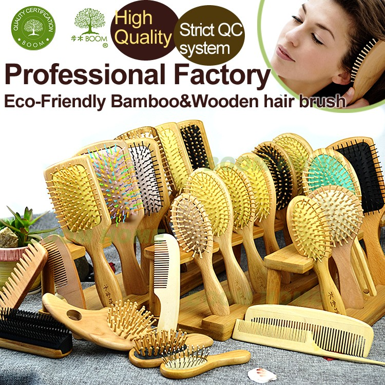 11 years experience personalized wooden hair brush tek factory , Eco-Friendly wooden brush ball hair