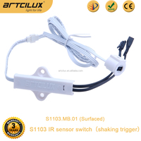 DC 12V led light hand sensor switch, S1003 shaking trigger, IR sensor switch for led kitchen light