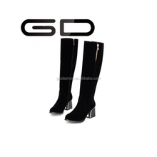 GD Thick with below the knees with pointed boots boots 2015 new high elastic thin leg female boots