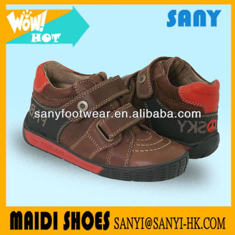 2017 Fashion Brown High Quality High Ankle Kid Shoes For Boy With Cheap Price