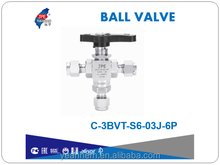 "Taiwan Instrumentation 316 3/8"" tube end 3PC Ball Valve"