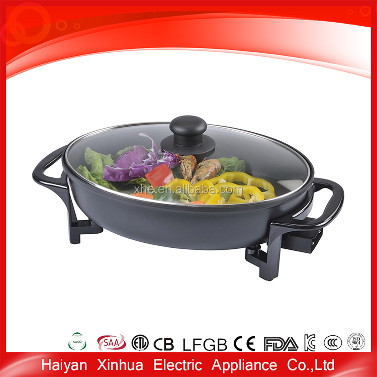 Superior assured quality new design stainless steel divided frying pan