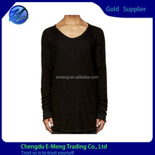 High Quality Wholesale Plain Blank Long Sleeve Tall T shirts Slim Fit for Men