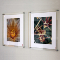 high quality plastic poster wall mount acrylic frame acrylic sign holder
