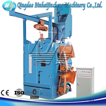 high efficient overhead rail shot blasting machine with spinner hanger
