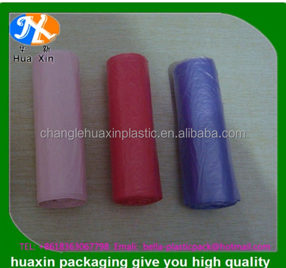 HDPE/LDPE designer print plastic garbage bags with side gusset