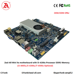 Latest industrial Wholesale Mini Itx Motherboard with Intel Core i5 4200U CPU 16GB DDR3 Memory for mall information Kiosk Gaming