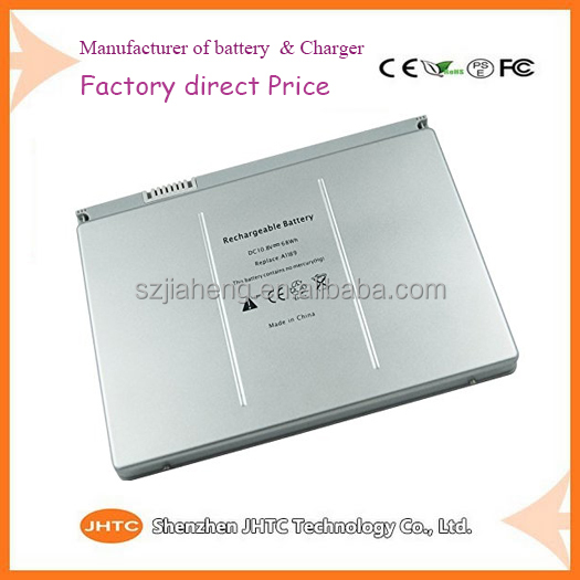 "Best cheap Factory Price MSDS 6600mAh Laptop Battery A1189 For Apple MacBook Pro 17"" A1151 MA092 MA611 MA897X/A"