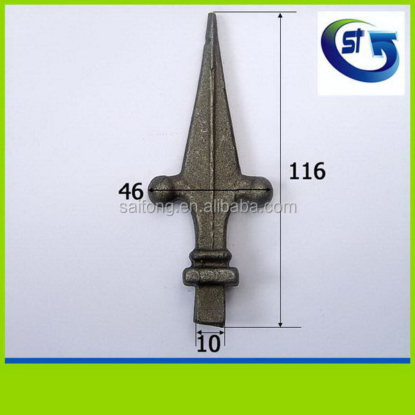 Top quality new products hosu gate design wrought iron spearhead