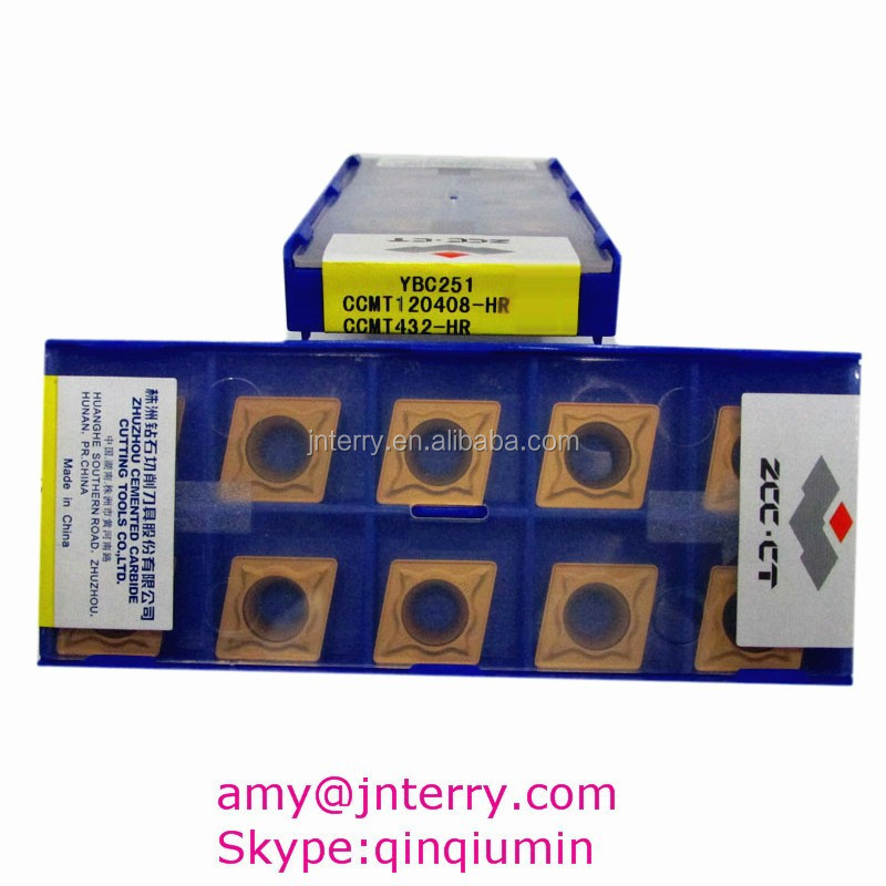 ZCCCT Inserts for CNC with Chip CCMT120408-HR YBC251