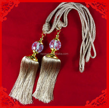 ribbon tieback tassels , curtain tiebacks ,beaded curtain tieback tassels
