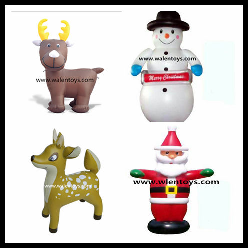 Inflatable Christmas Santa Claus Snowman reindeer Air Blown Yard Decoration