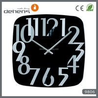 modern design glass painting clock for home decor