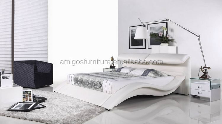 New Style Korean Bedroom Furniture Princess Leather Bed