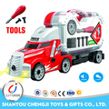 China manufacture kids DIY plastic trailer truck toy for sale