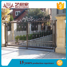 Alibaba hot sale modern entrance galvanized main new design iron gate / beautiful ornamental cheapest alibaba aluminum gate