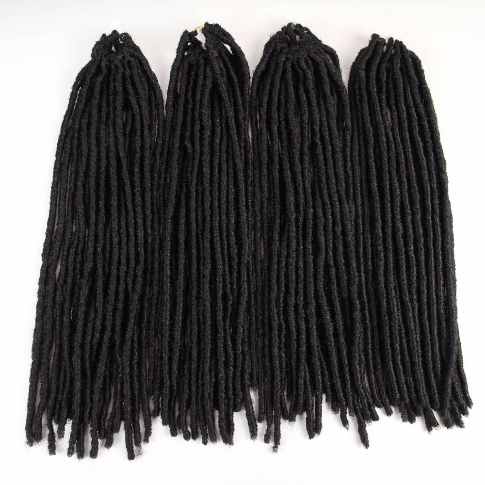 Synthetic Braiding Hair Soft Dreadlocks Extensions Ombre Faux Locs Crochet Braids