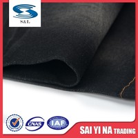 Super stretch cotton/spandex printed denim twill fabric used for pants