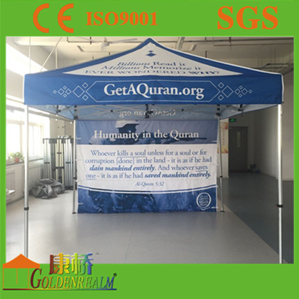 10x10ft Outdoor steel metal canopy White Fabric Custom Folding Tent Exhibition Event Canopy