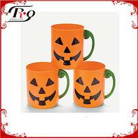 pumpkin halloween plastic cups