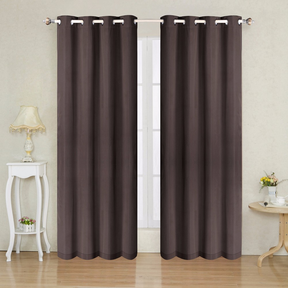 IN STOCK 1pc Solid Chocolate Thermal Insulated Blackout Ready Made Decorative Living Room Curtain