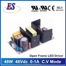 48W 0-1A 48Vdc Open Frame Constant Voltage LED Driver Power Supply ,UL CE CB
